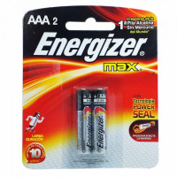 Pilhas Alcalinas Energizer Max AAA - Com 2 pilhas