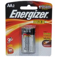 Pilhas Alcalinas Energizer Max AA - Com 2 Pilhas